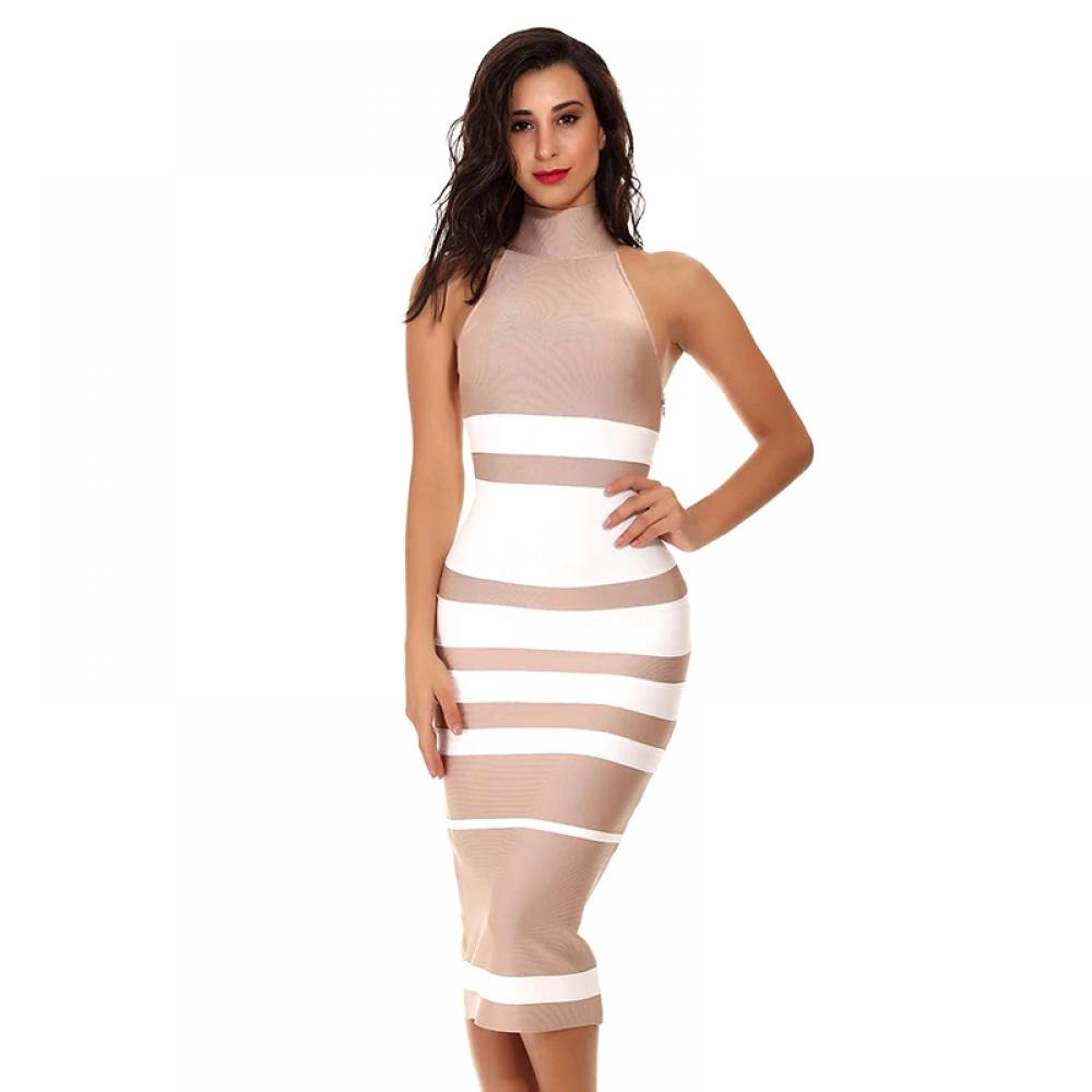 #girls #fashionblogger Evening Dress for Women with Turtleneck Neckline and Striped Design https://t.co/0i9IhQOGPo https://t.co/N4srzqGXsK