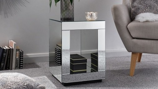 Capri Mirrored Cube Lamp Table - Now only £107.99 with FREE UK Delivery - https://bit.ly/2XS2uTZ  - #sales #furniture #interiordesign #interiodecor #homedesign #homestyle #homedecor #livingroom #interiorstyling #table #luxuryhomes #housedesign #modernhome #elegant