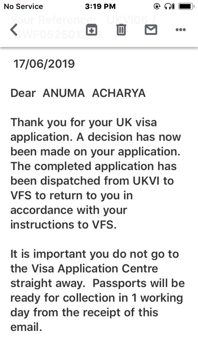 4 days ago Quoted @AnumaVidisha Email received  We shall