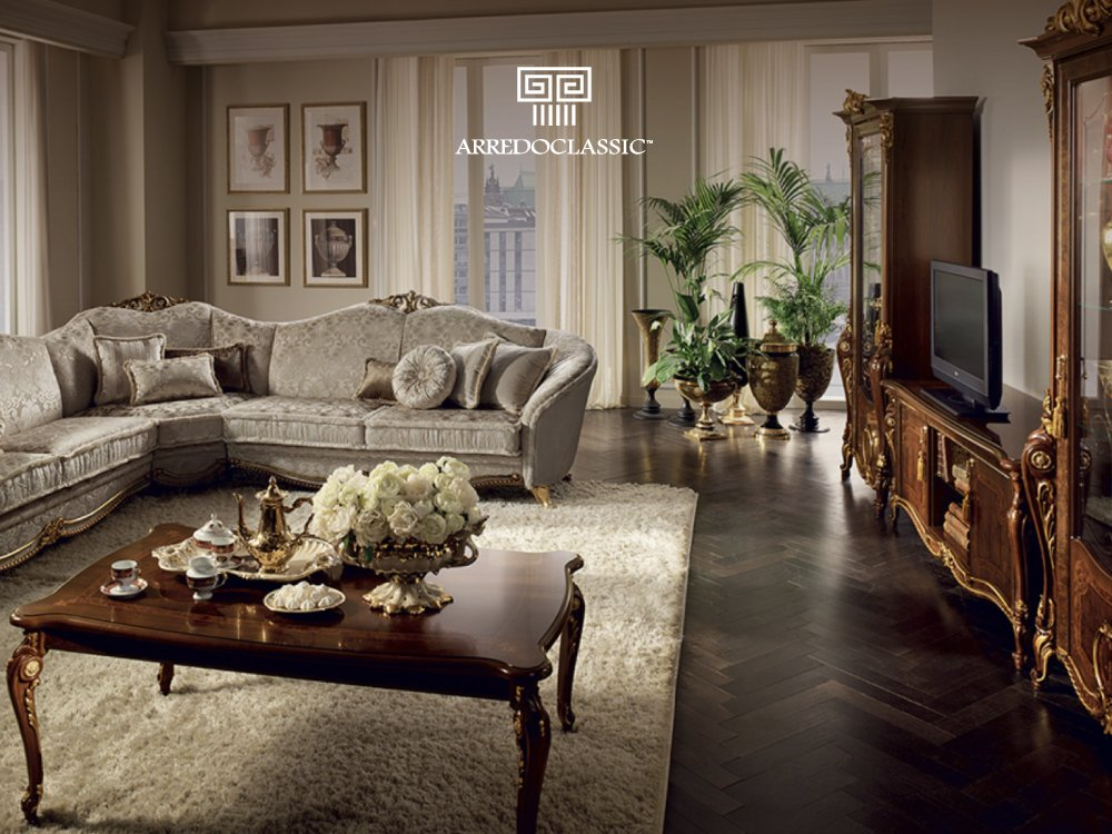 Enjoy the #dynamism of the sinuous #elegant lines, the moulding and #gilt decoration that permeates all the pieces of the #Donatello #livingroom.  https://arredoclassic.com/living-room/donatello-living-room/ …