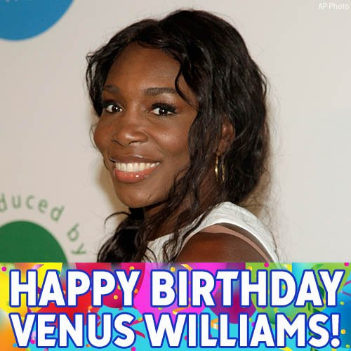 Happy birthday to tennis superstar and Olympic gold medalist Venus Williams!