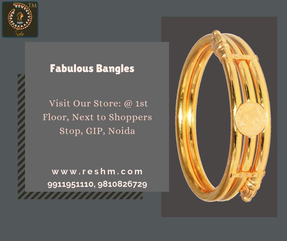 Fabulous Bangles by Reshamm Shop now :  or Visit our store @ 1st Floor Next to Shoppers Stop GIP Noida #reshamm #Lightweightgoldjewellery #jewelleryinnoida #jewelleryindelhi #jewelleryinncr #goldlovers #jewelleryfans #fashion #designerjewellery