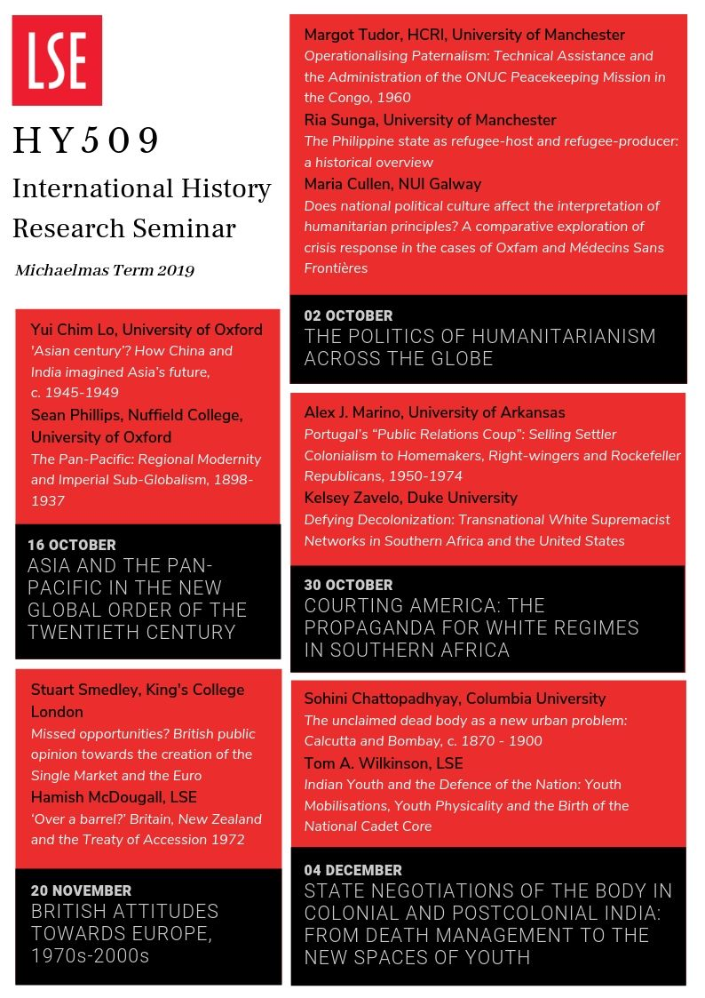 LSE International History Seminar (@LSEHY509) | Twitter