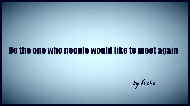 Be the one who people would...  #MondayMorning #quote<br>http://pic.twitter.com/LyMWigcDvs