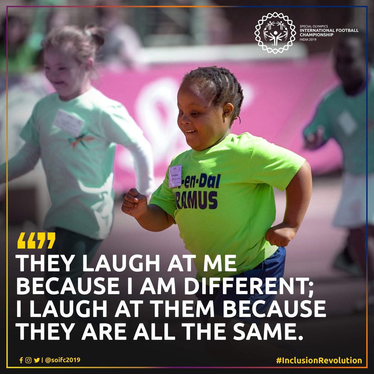 #MondayMotivation  Being different is not a crime on their part, being Inclusive is what we can do on our part. Accepting the unaccepted is what makes us unforgettable and great, stay motivated and keep the good work going.  #SOIFC2019 #ChooseToInclude #InclusionRevolution