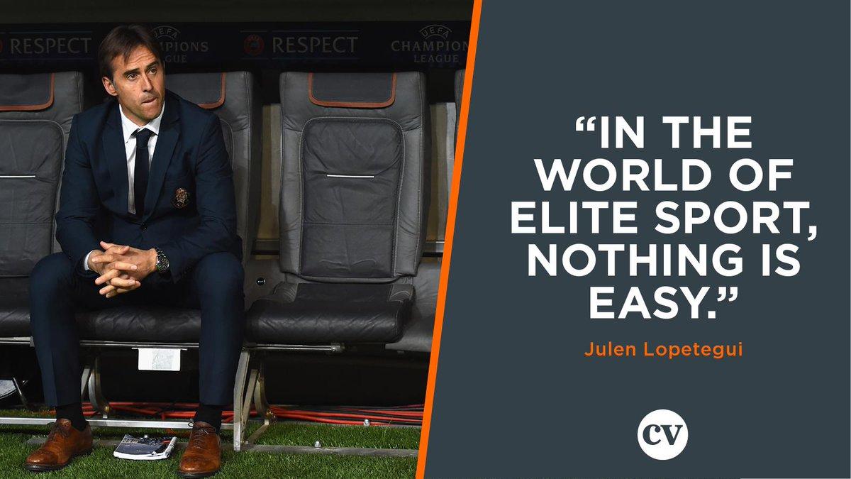 """Julen Lopetegui  """"In the world of elite sport, nothing is easy."""" <br>http://pic.twitter.com/lJkdsVRyXa"""