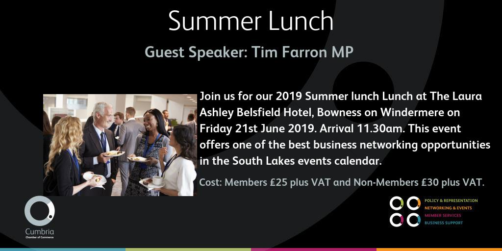 test Twitter Media - THIS Friday - don't delay! Join us at the Laura Ashley Belsfield Hotel, Bowness on Windermere for our Annual Summer Lunch offering you the chance to hear from our guest speaker, local constituency MP Tim Farron. Full details and booking info here: https://t.co/GatthQCfpk https://t.co/Q4xv3H1a8B