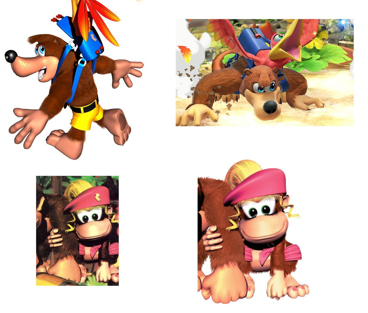 Slightly interesting Banjo fact here. The R logo from the original BK renders that has reappeared in Smash is the same R logo that used to be on Dixie's beret, before it was removed later. <br>http://pic.twitter.com/HGC5gdXcdr