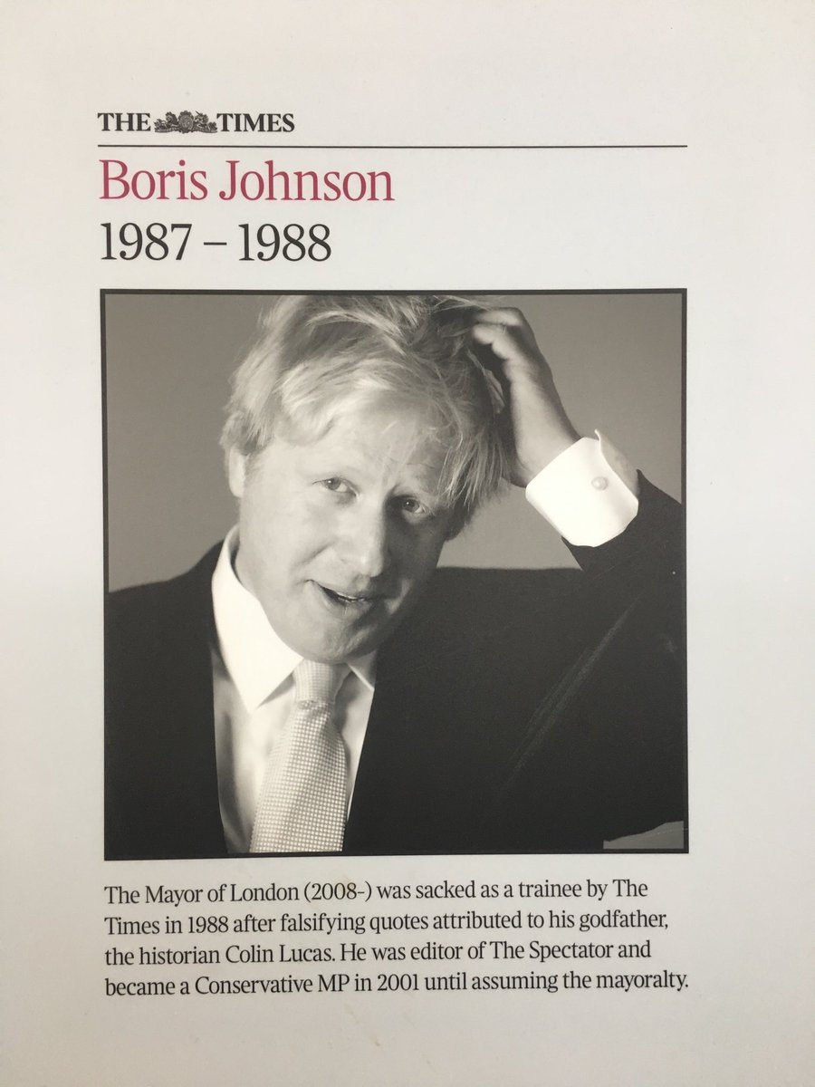 We have this on the wall in The Times offices