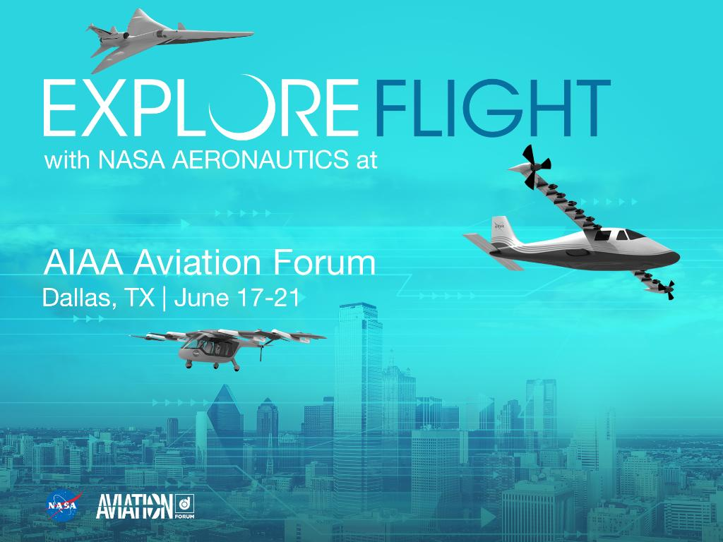 Greetings from #AIAAaviation 👋🏻 From workshops to panels and technical papers to special sessions, we are here all week discussing our current work in commercial supersonic flight, electric propulsion, and urban air mobility→aiaa.org/aviation/progr…