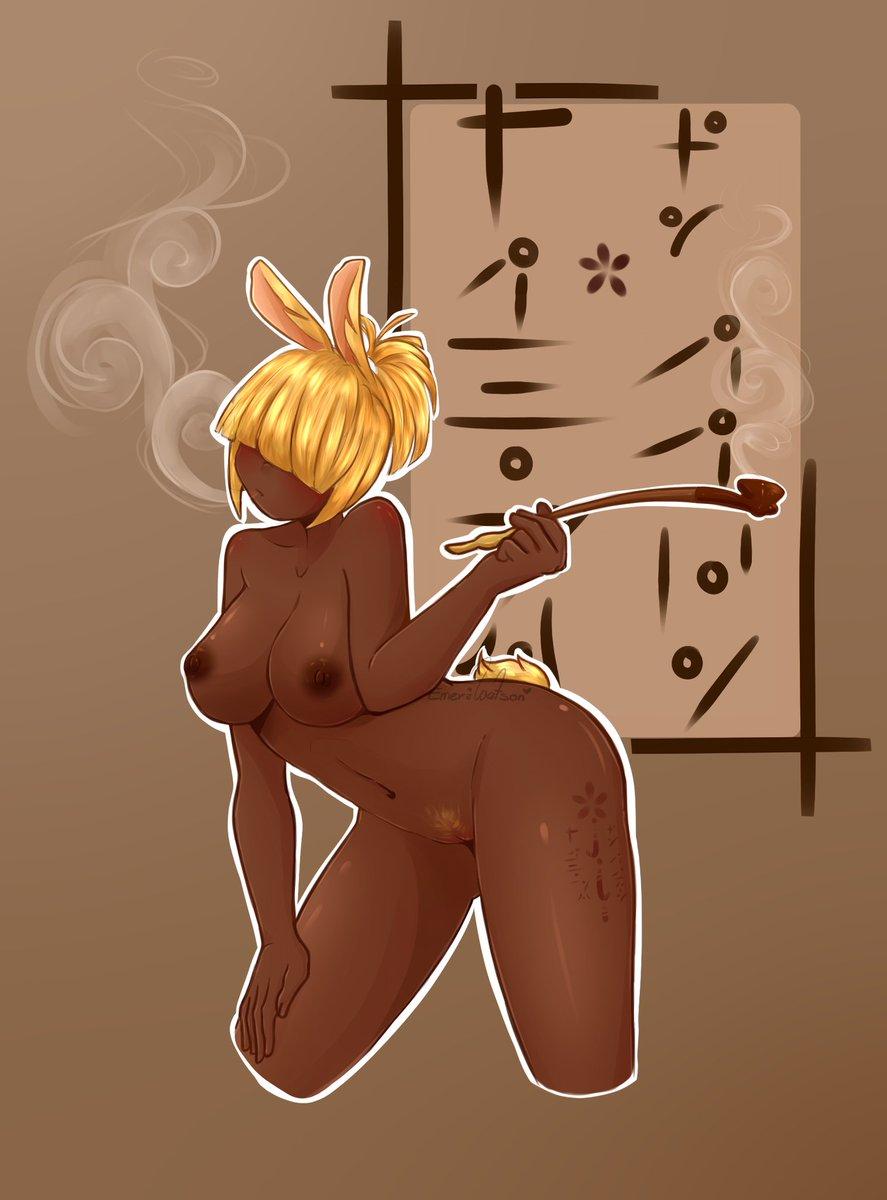 🐰👹🚬  #nsfw #nsfwart #bunnygirl #oppai