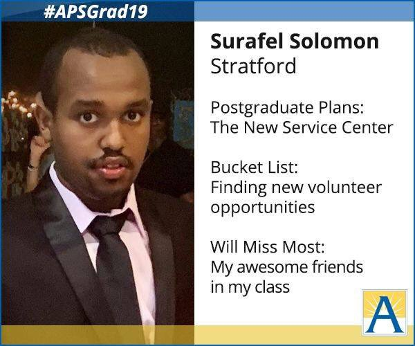 """I am looking forward to new opportunities, but will miss my awesome friends."" <a target='_blank' href='http://search.twitter.com/search?q=APSGrad19'><a target='_blank' href='https://twitter.com/hashtag/APSGrad19?src=hash'>#APSGrad19</a></a> <a target='_blank' href='http://twitter.com/StratfordKG'>@StratfordKG</a> <a target='_blank' href='https://t.co/plBtrjcLXE'>https://t.co/plBtrjcLXE</a>"