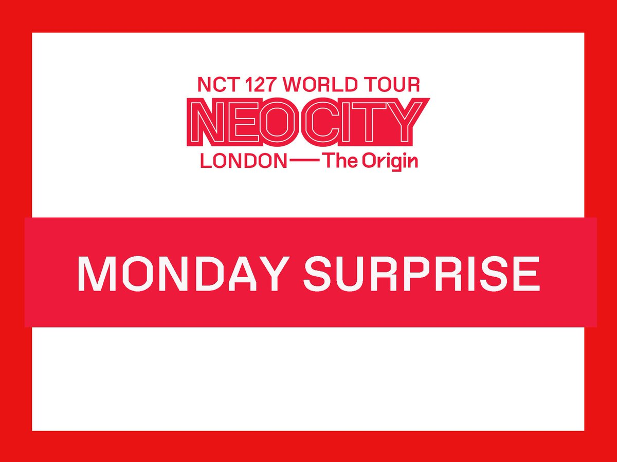 NCTzensHappy Monday We have a special surprise for you! STARTING NOW until 24/6/2019 00:00 (UK TIME)  We will pick 2 lucky NCTzens (1 for London, 1 for Paris) on 12:00 24/06/2019, and you will get a 'NCT 127 WORLD TOUR NEO CITY:LONDON/PARIS - The Origin' Official Poster! <br>http://pic.twitter.com/BjCEFowxqV