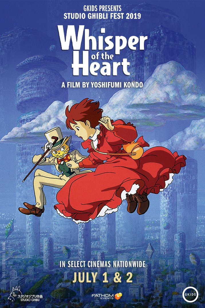 Discover #WhisperOfTheHeart - Studio Ghibli's coming-of-age tale written by Hayao Miyazaki and featuring a magic cat! Win tickets now to see it July 1 & 2 at the @GKIDSfilm #GhibliFest! Enter to win tickets:  https:// gleam.io/qCFLA/whisper- awesome-con  …  <br>http://pic.twitter.com/2cfmPbH2oL