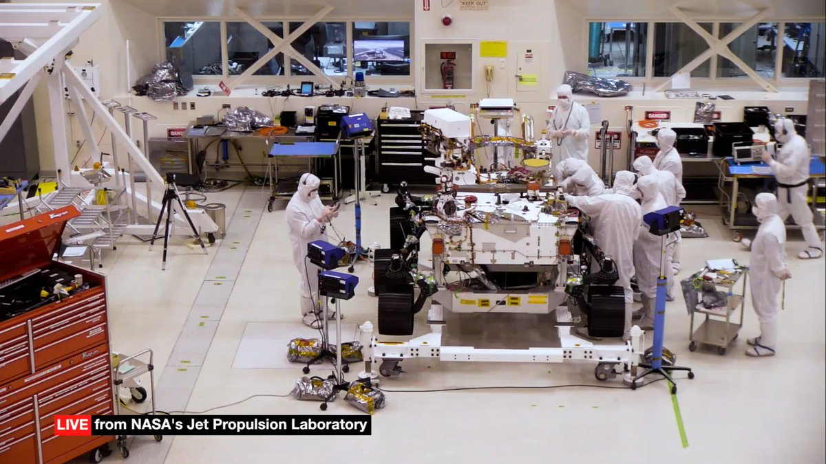 Come check out our new wheels! @NASA's next big rover is being built right now. Watch LIVE 24/7 and chat at 11am and 4pm PT: youtube.com/NASAJPL/live #Mars2020