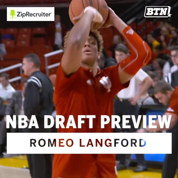 In just a few nights, some NBA team's going to add a talented scorer.  His name's Romeo Langford (@yeahyeah22), and @IndianaMBB fans need no introduction.  BTN x @ZipRecruiter