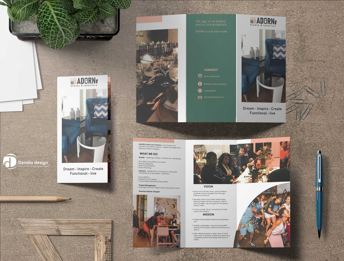#SaloneTwitter  I design brochures as well.  What do you guys think about this brochure?  - - - #brochure #brochuredesign #interiordesign #DembsDesign #flyerdesign #GraphicDesign #sierraleone #freetown #branding