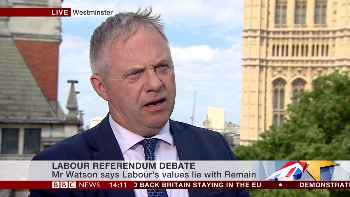 """""""This is going to lose Labour the next general election by a significant amount""""  John Mann MP says backing Remain would be """"catastrophic"""" for his party, after deputy leader Tom Watson calls for Labour to be """"loud and proud in support of Europe""""  http://bbc.in/2XVffNA #Brexit"""