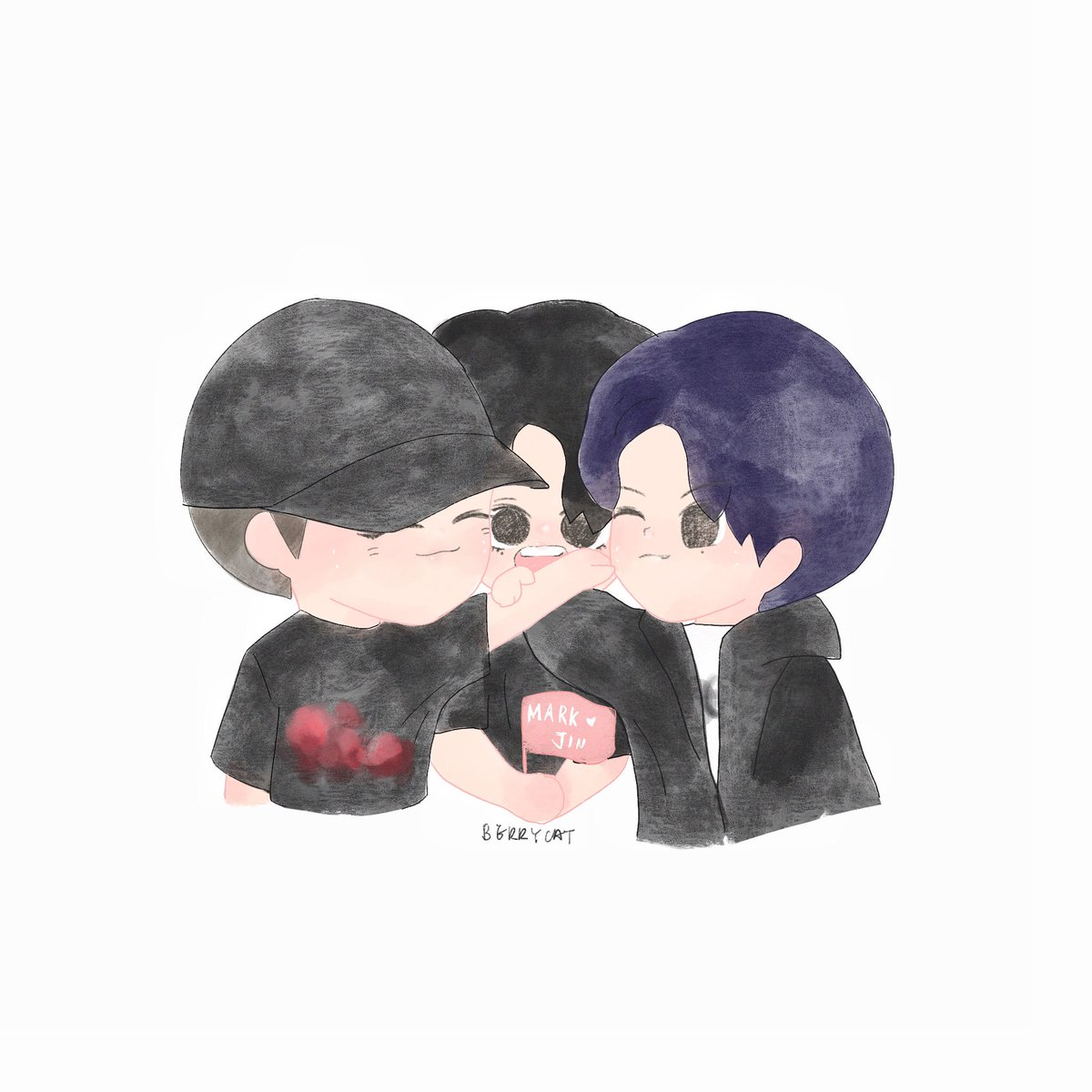 poor Gyeomie  In the middle of #MarkJin   #GOT7fanart #MarkTuan #Jinyoung #Yugyeom #markjingyeom<br>http://pic.twitter.com/bqGt4vHTA2
