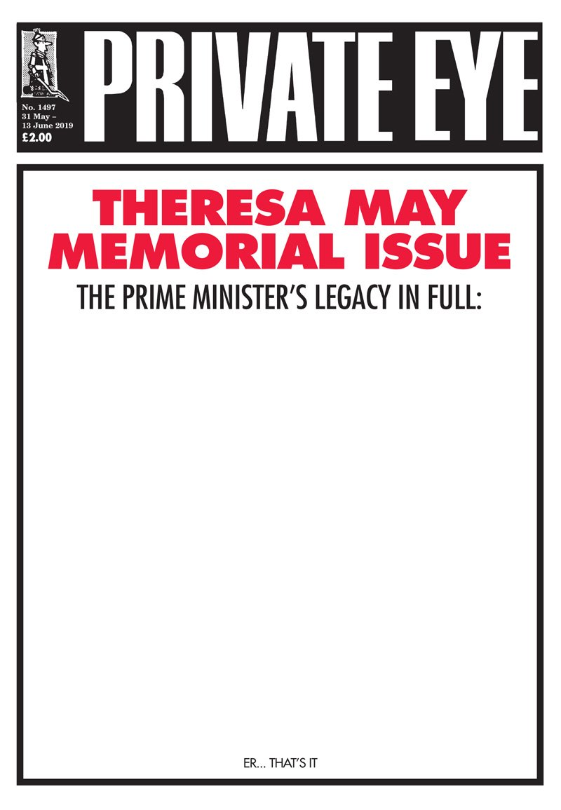 Satire has actual effect shock: (L) Private Eye cover, 31 May (R) The Times, 15 June
