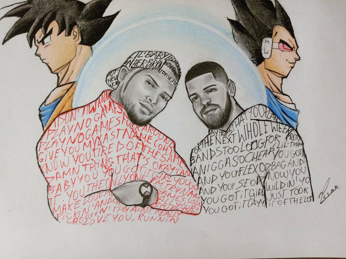 Drawing With Lyric No Guidance At Chrisbrown Ft At Drake