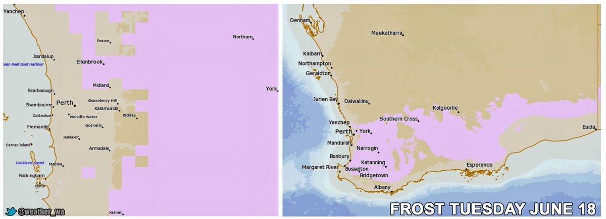 #Frost Forecast For The Northeastern #Perth Suburbs, #PerthHills, #SouthWestWA, #GreatSouthern, #Goldfields And #Wheatbelt Late Tonight And Early Tomorrow Morning. #PerthNews #PerthWeather #WAFarmers #WesternAustralia