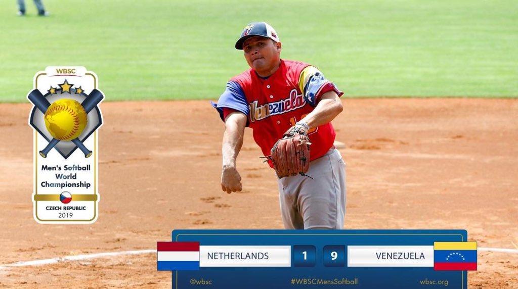 #FelizLunes 🇻🇪  ¡Continuamos Invictos! 🥎💥👏🏽   Nuestros guerreros del Softbol vencieron 9 - 1 a Holanda en su 4to partido en el Campeonato Mundial que se realiza en Praga. ¡Bravo muchachos!  Mañana a las 7:30 am hora local enfrentaremos a Canadá 🇨🇦 #VamosVenezuela @NicolasMaduro