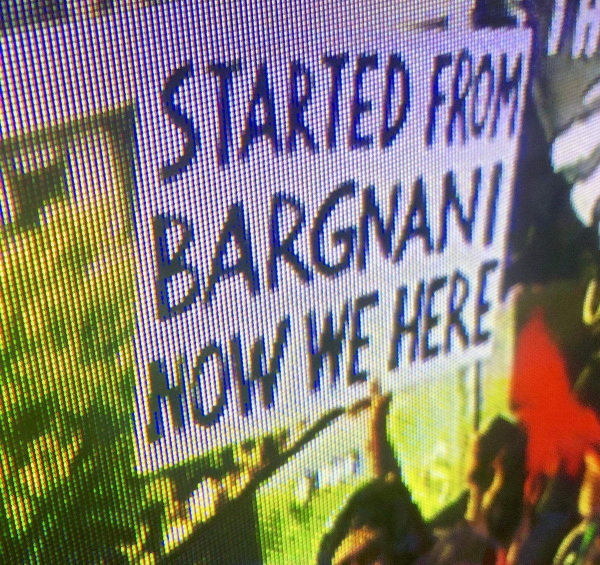 This is might be the greatest #WeTheNorth @Raptors parade sign you'll see today
