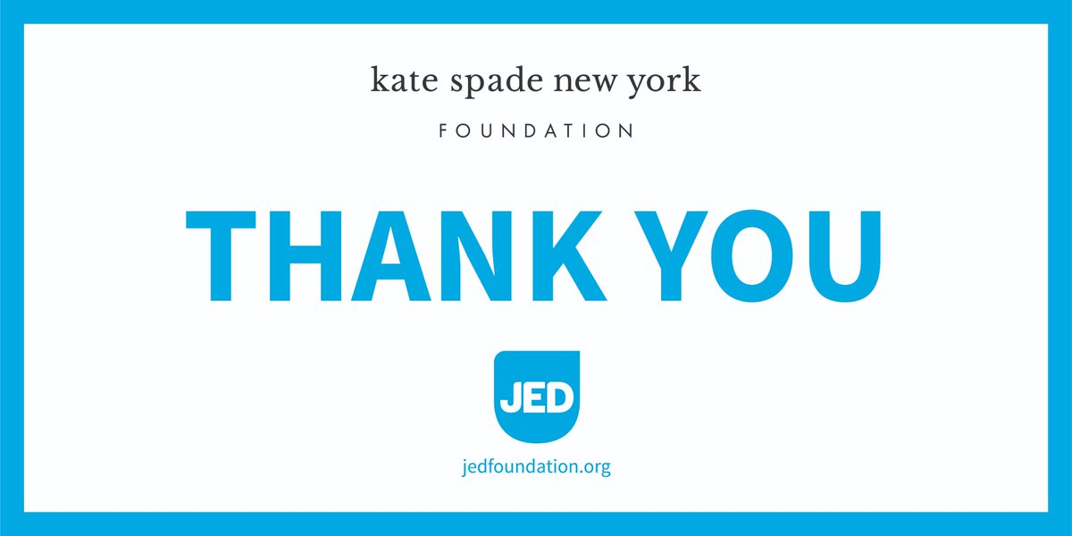 We did it! With your support, we met our fundraising goal with Kate Spade New York Foundation @katespadeny to protect emotional health and prevent suicide for our nation's teens and young adults. We couldn't have done it without your support. Thank you!