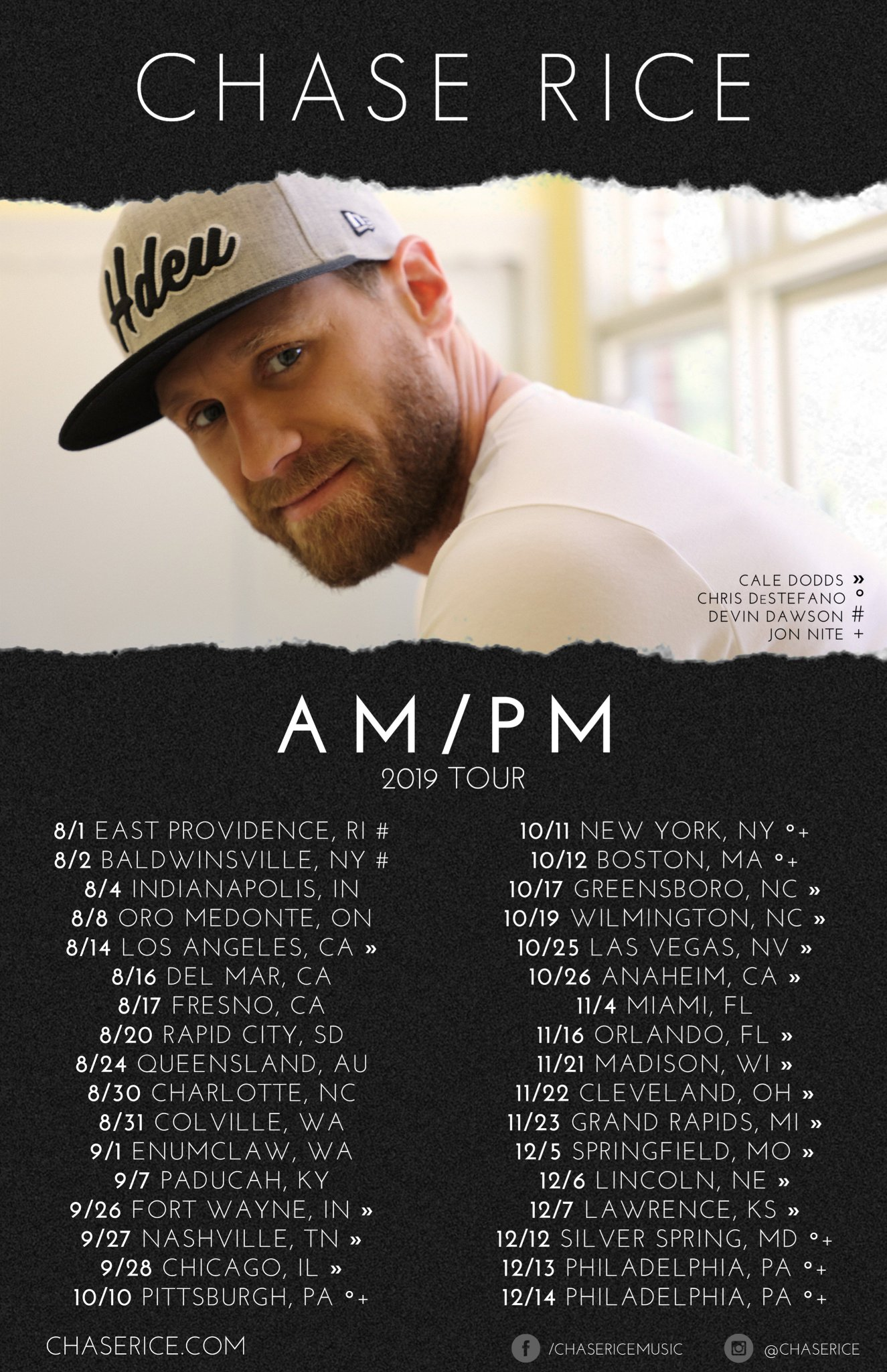 Chase Rice On Twitter I M Heading Out On The Am Pm 2019