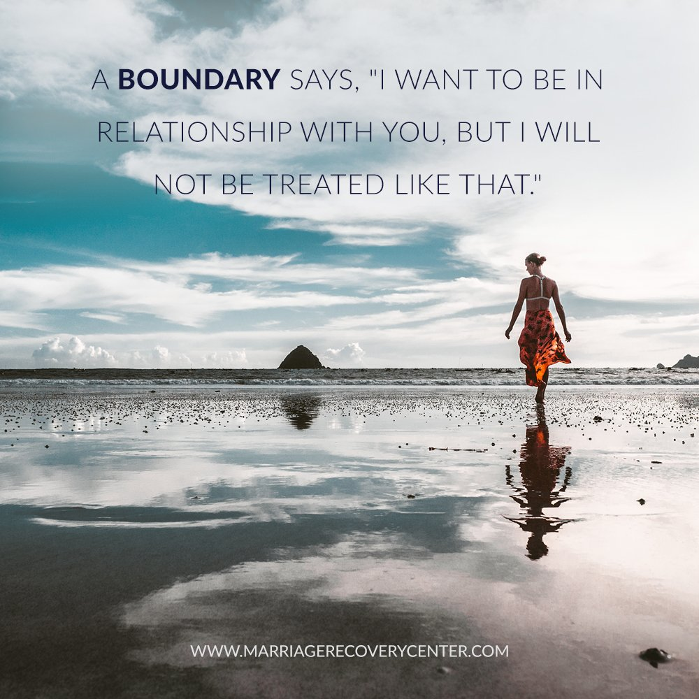 """A boundary says, """"I want to be in relationship with you, but I will not treated like that."""" #boundaries #personalgrowth #healing #counseling<br>http://pic.twitter.com/zaJs9D3Wem"""