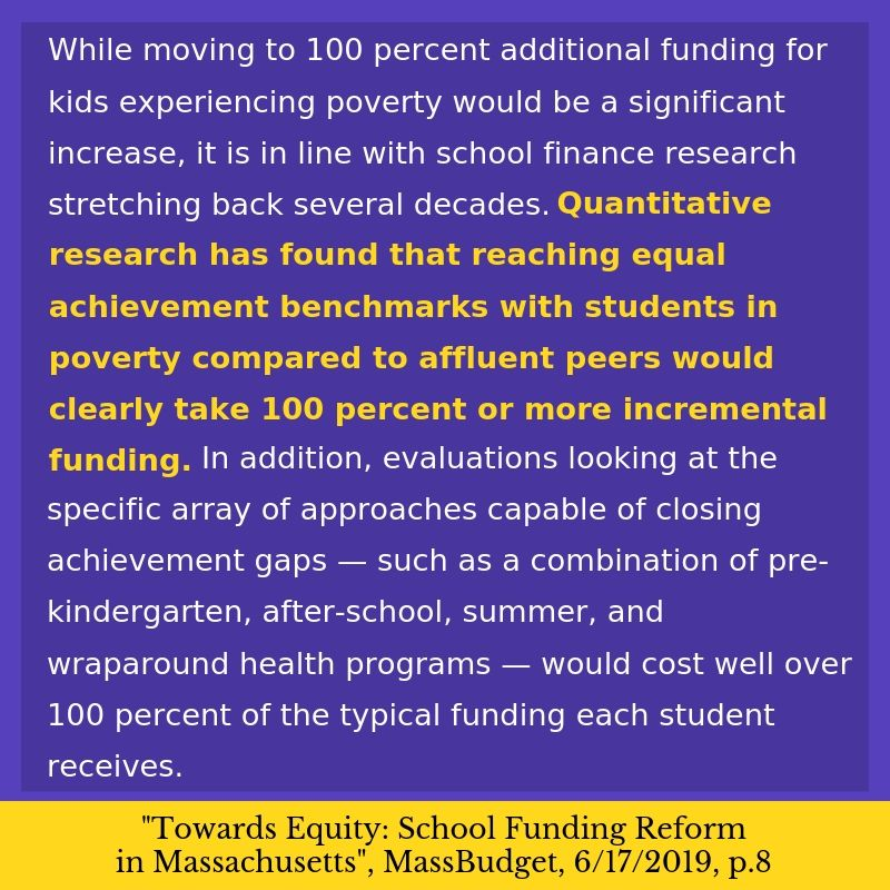 It's the only bill to double the funding rate for our most impoverished student. Doing this is critical -- it's the minimum needed to actually close achievement gaps at scale. #MAEdu #FBRC #mapoli #EduPROMISE 2/
