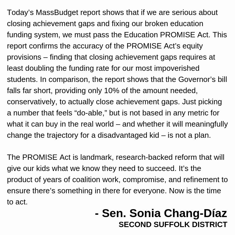 The bigger question for us, though: Who are we if we don't do what we know needs to be done for our poorest students? This is our chance. Let's go smartly and boldly, just like we've done so many times before. #mapoli #MAEdu #FBRC #EduPROMISE 4/4  My full statement: