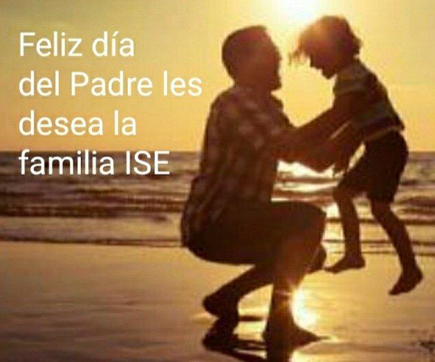 La familia Ise les desea a todos los padres un feliz día.   Para los que están, los que se fueron y los que serán. Por que un padre siempre es el apoyo presente! #diadelpadre #junio #17jun #profitplus #ise #felizlunes