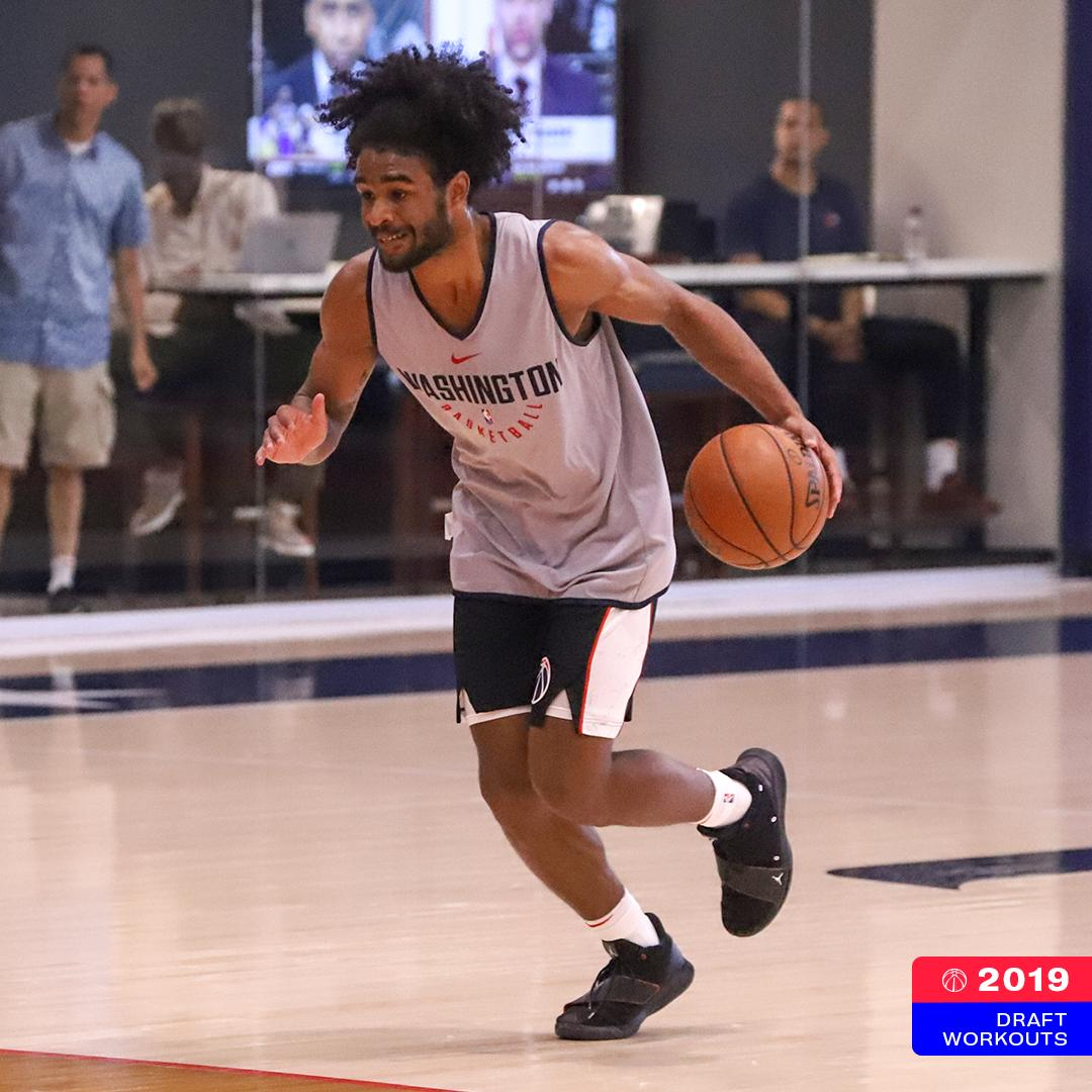 Coby White (@UNC_Basketball) putting in work!  #WizDraft | #DCFamily<br>http://pic.twitter.com/u8Fq1y5pmJ
