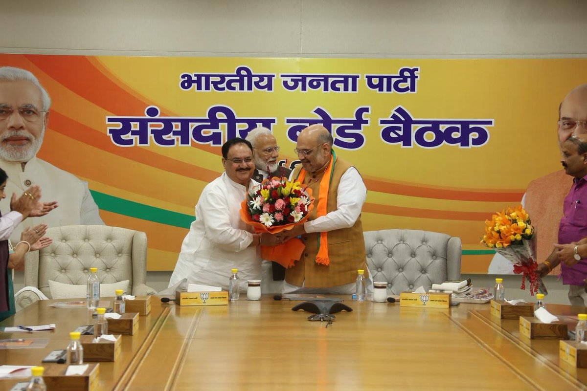 JP Nadda becomes Working President of BJP; Amit Shah to continue as President for 6 months