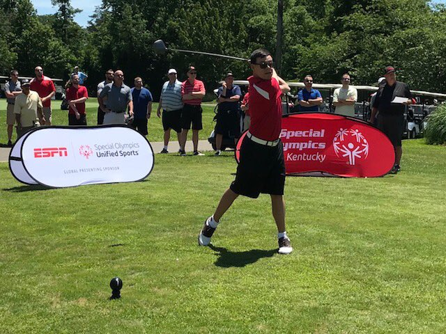 On Friday afternoon, we were invited to be a part of the @uofl Faculty/Staff Golf Outing by the @ULSRC, with athletes Wake Mullins and Tee Salinas hitting the ceremonial first shots. Thank you USLRC for a great day and for all you do in support of Unified Sports! #ChoosetoInclude