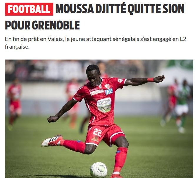 Moussa Djitté comme un malpropre du FC Sion #FCSION #HopSion #Grenoble https://t.co/XDMo91jaMf