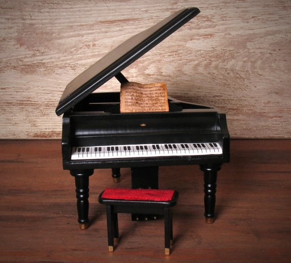 Classy #Miniature Grand Piano for your #Dollhouse - https://etsy.me/2F8nTmc