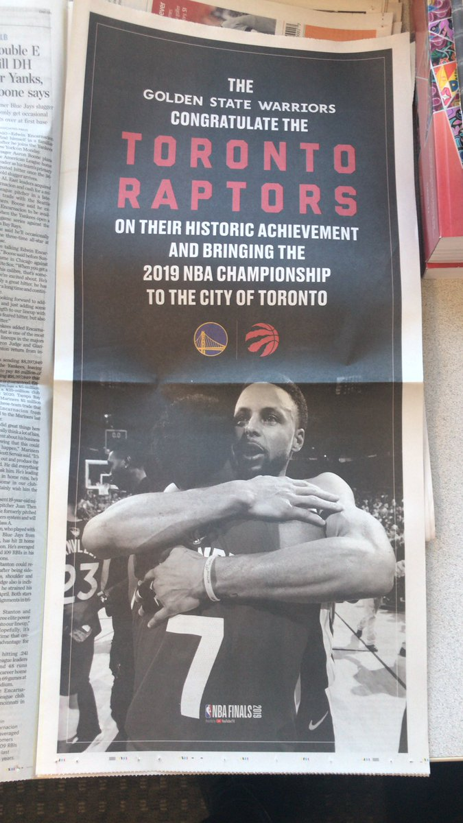 RT @aballinga: Full page ad in today's @StarSports section. Classy move by the Golden State Warriors. https://t.co/XtkYCtDAKq