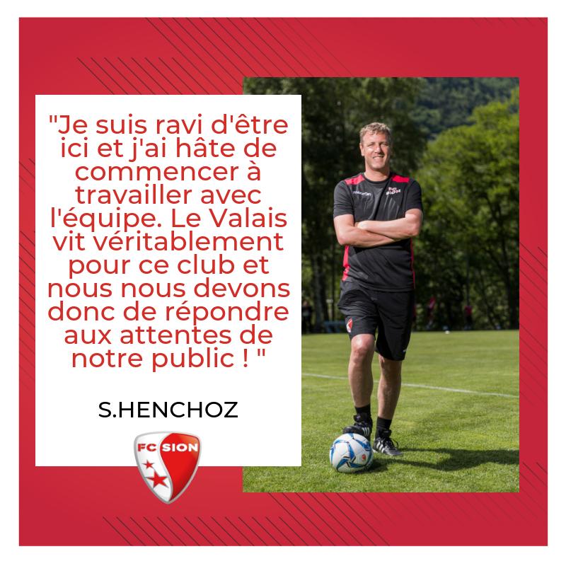 RT @FCSion: 💬 Les premiers mots de Stéphane Henchoz en Valais ⚪️🔴 #FCSion #BacktoWork #HopSion https://t.co/ItoRckgOI8