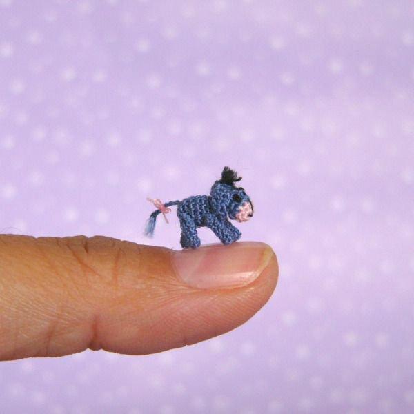 Meet the Tiniest Eeyore Ever Crocheted! 👉 https://buff.ly/2ZrNyft #amigurumi #eeyore #miniature #crochet