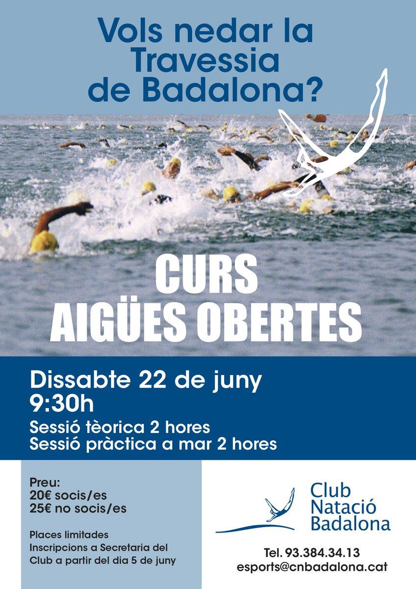 El proper dissabte dia 22: CURS AIGÜES OBERTES al @CNBadalona amb @SwimEmotions i @J_Albaladejo  Una gran oportunitat per aprendre la tècnica a mar obert, i afrontar la propera travessia de #badalona #natació #aigüesobertes #69travessiabadalona