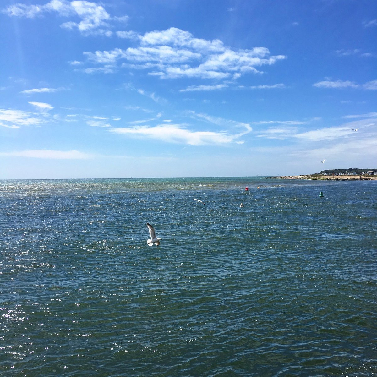 Simply Stunning along the beautiful #Dorset coast today. #HengistburyHead in the distance as we experience #MudefordQuay #Mudeford as part of our preview for our #SummerUK series. #DorsetHour #SatchatUK<br>http://pic.twitter.com/a3wl5b09tr