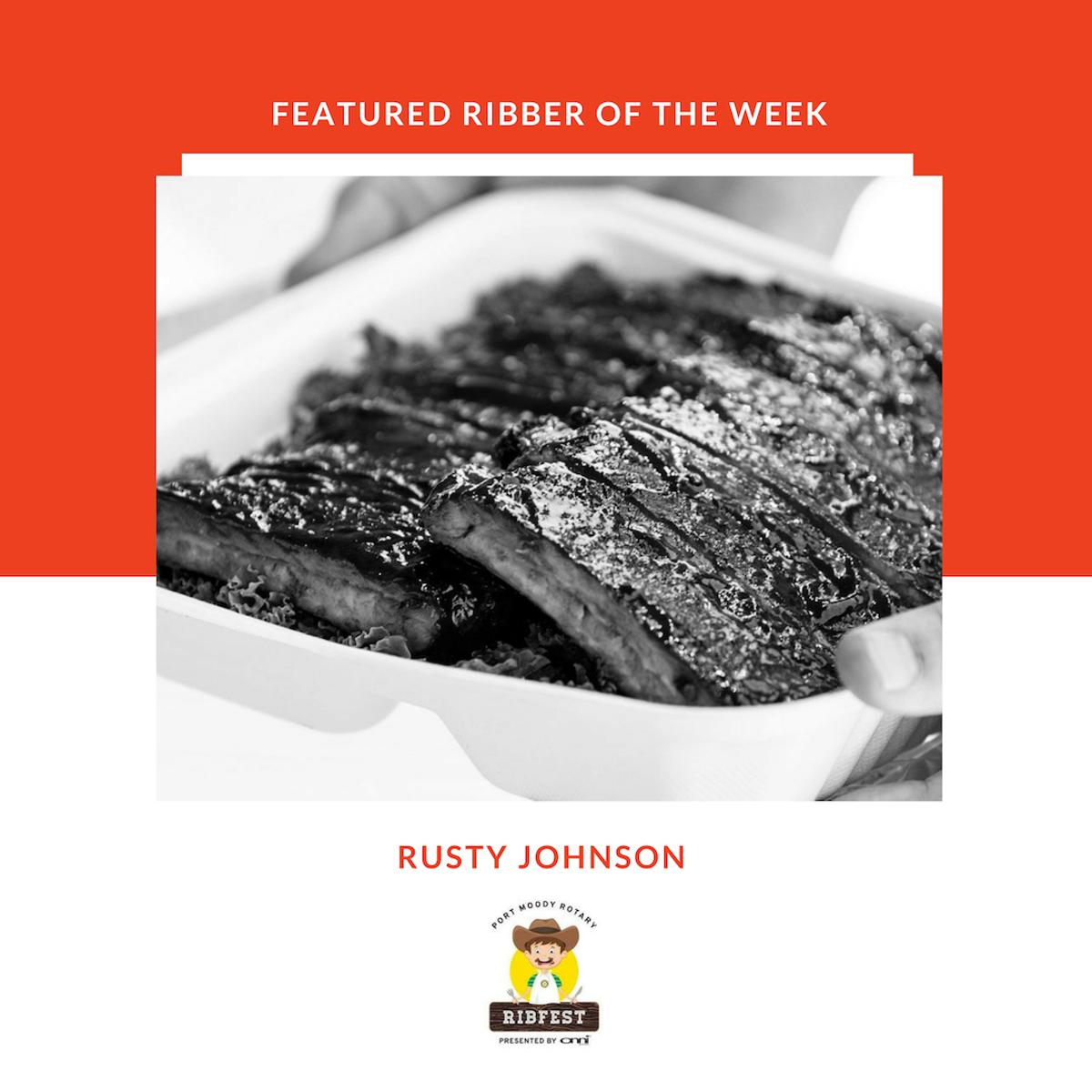 This week's Ribber of the week is Rusty Johnson! Available in the adult-bar section, local award winning BBQ Champion Rusty Johnson, will be serving up ribs. Make sure to check out Rusty Johnson at this year's Port Moody Rib Fest! #ribfest #portmoodyribfest #portmoody