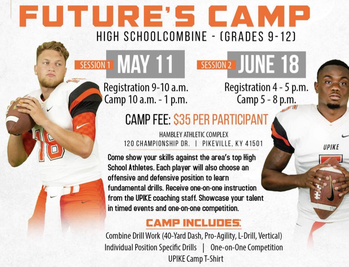 Future's Camp tomorrow at 5pm!! Lots of great talent coming to campus! Come improve your game with the Bears! Still spots available! Registration from 4-5pm. #WinTheMoment <br>http://pic.twitter.com/NKOffERMI3