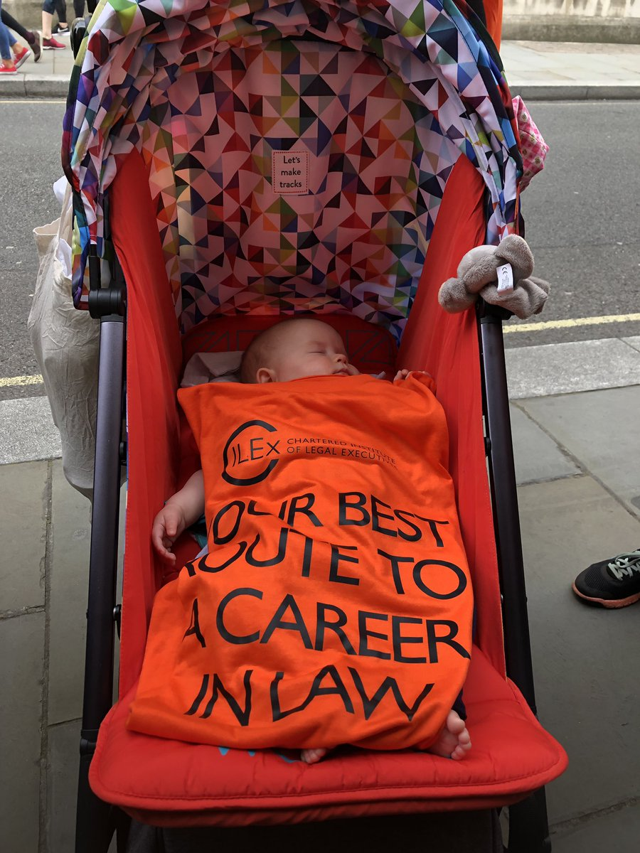 Here we have our youngest walker for the #LondonLegalWalk! #LawSociety