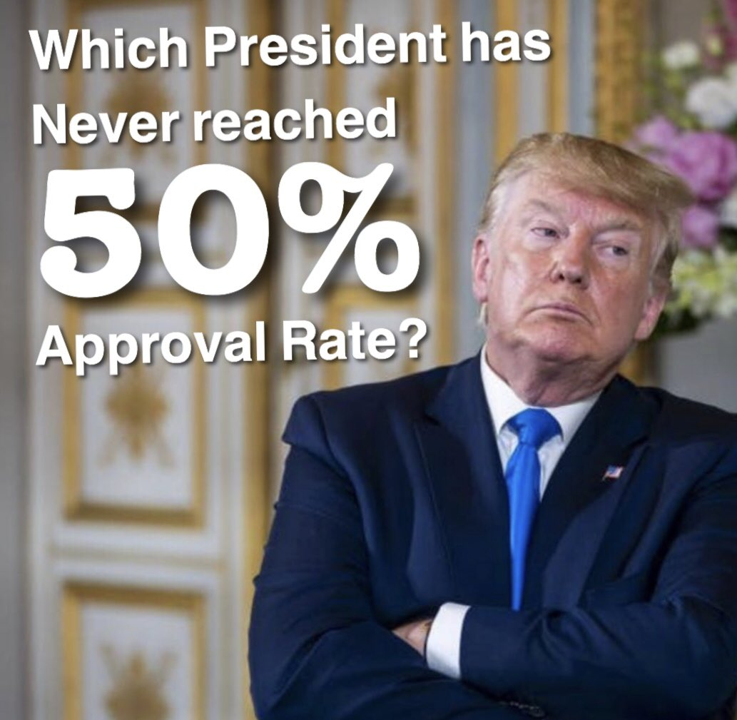#VoteBlueNoMatterWho Has Trump ever had a 50% approval rate? <br>http://pic.twitter.com/FwPmwqMYdW