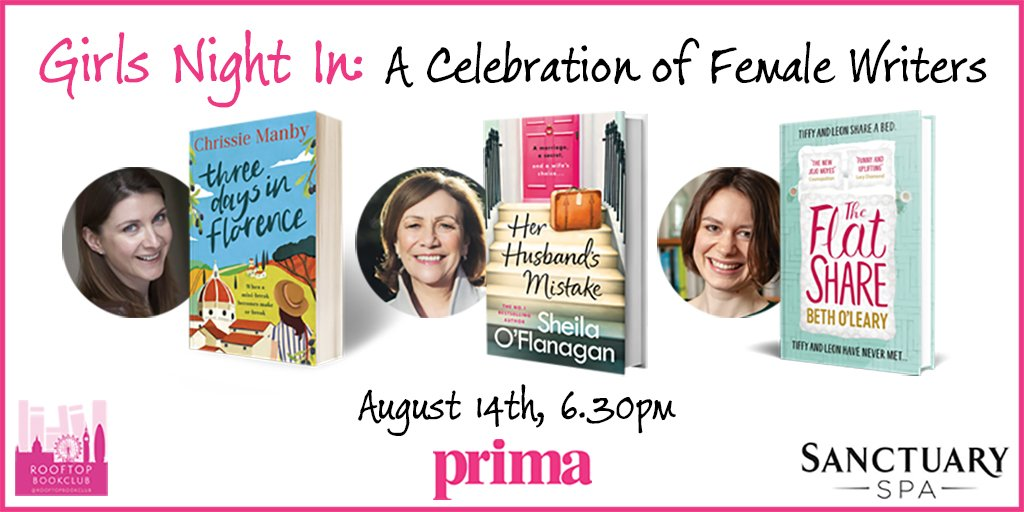 We're teaming up with @PrimaMag & @TeamBookends to take part in their @RooftopBookClub with 3 spectacular female authors. Tickets include bookish chat, glass of wine, riverside view plus a goodie bag including our fab Sanctuary products! TICKETS: https://t.co/3y9vUeXPSx https://t.co/TEtQ1aKXkd
