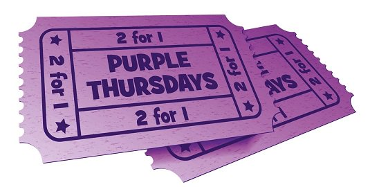 2-FOR-1 TICKETS TO CADBURY WORLD! Available for a limited time with our Purple Thursday offer. Find out date availability & how to claim this off here: http://bit.ly/2for1ticketsPurpleThursday … 😍🍫 #Offer #Discount